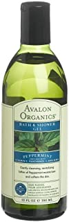 product image for Avalon Organics Peppermint Bath And Shower Gel, 12-Ounce Bottle (Pack of 2)