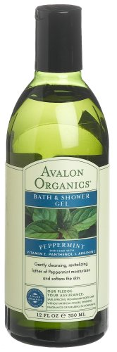 Avalon Organics Peppermint Bath And Shower Gel, 12-Ounce Bottle (Pack of 2)
