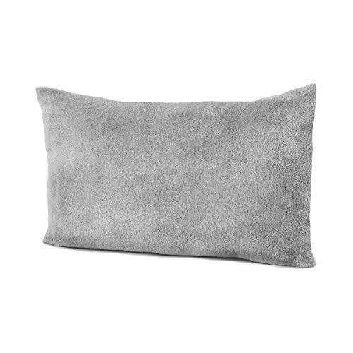 Allyson Brooke Home 12x18 Silver Grey Minky Fleece Pillowcase Perfect for MyPillow Go Anywhere Pillow Travel Size, Toddler Size Pillowcase 12x18 in Grey (Made in The USA)