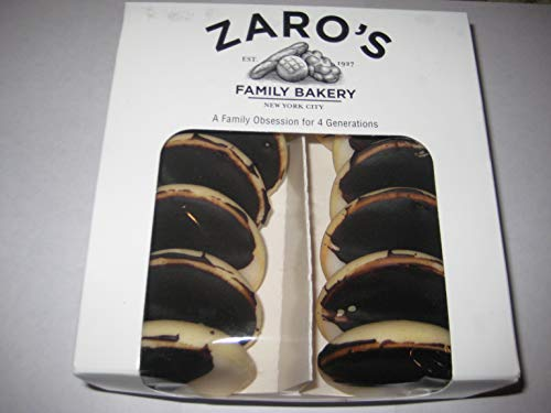 Zaros Mini Black & White Cookies Made in Bronx, New York City, One Pound (Best Black And White Cookies In New York City)