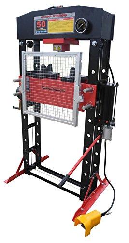 50 Ton Hydraulic Shop Press (Redline RE50T 50 Ton Air Hydraulic Shop Repair Metal Press)