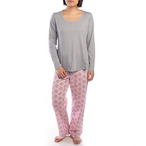 (Jockey (2 Piece Soft Pajama Set for Women Cotton Long Sleeve Shirt Pants Ladies PJs for Teen Girls Sleepwear)