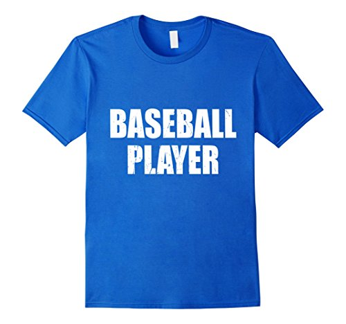 Mens Baseball Player Shirt Halloween Costume Funny Distressed XL Royal Blue - Mens Retro Baseball Player Costume