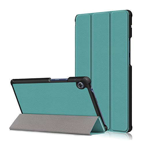 "Huawei MatePad T8 Flip Cover,Heavy Duty Hard Kid Proof Case PU Tri-fold with Lightweight Ultra Slim Shell Shockproof Bumper for Huawei MatePad T8 8.0"" 2020 Kobe-L03/Kob2-L09 Tablet PC (Blue)"