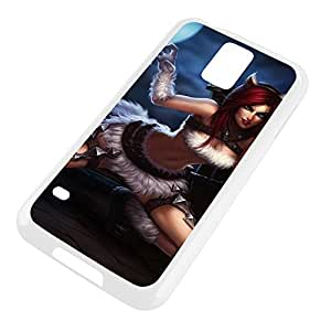 Katarina-006 League of Legends LoLDiy For SamSung Galaxy S6 Case Cover Plastic White