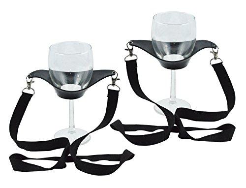 Fairly Odd Novelties FON-10219 Wine Glass Lanyard, Black, Set of 2, One Size,