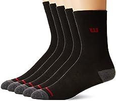 Wilson 8347 Calcetines para Hombre, color Negro, Talla Única (Paquete de 5 Piezas)
