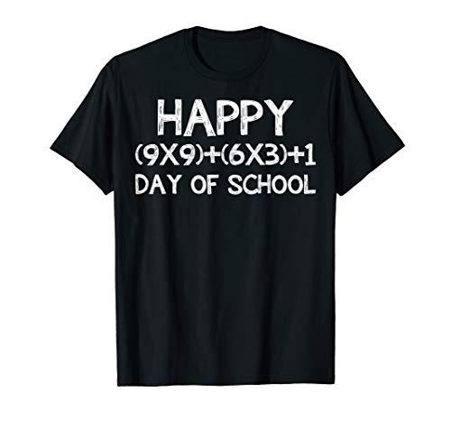 Math Formula 100 Days Of School Shirt Teacher Boy Girl Gift