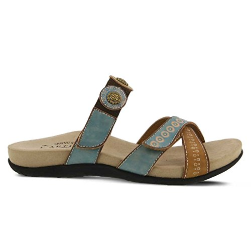 L'Artiste by Spring Step Women's Glendora Flat Sandal Sky Blue Multi best sale cheap price from china for sale 100% guaranteed online YBDHknD6c