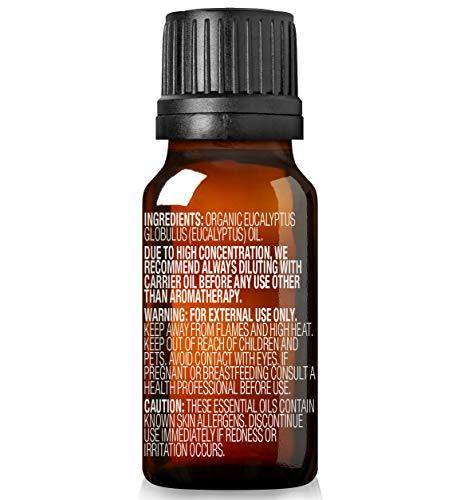 Cliganic USDA Organic Eucalyptus Essential Oil 100 Pure  Natural Aromatherapy Oil for