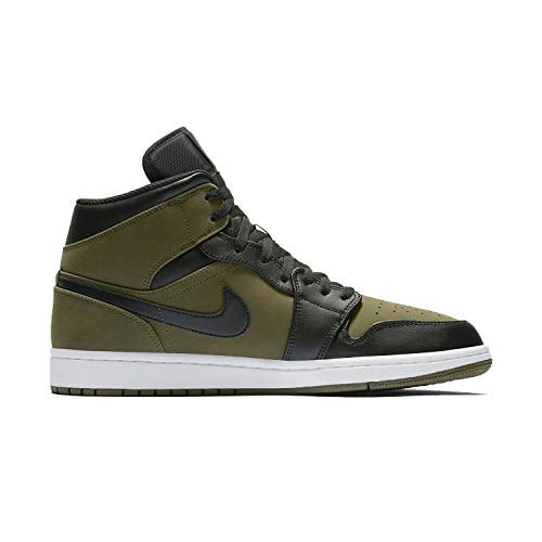 Nike Air Jordan 1 Mi De Toile D'olive 554724301, Turnschuhe