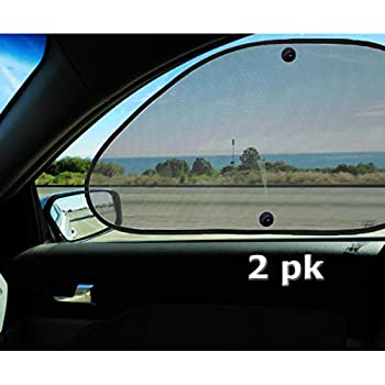 19x12 KALMORE Car Window Shade Car Sun Shade Car Sunshade Block Harmful UV for Max Protection with See Thru View 3 Pack