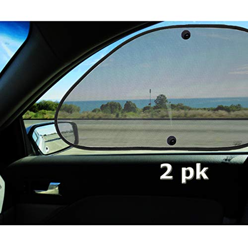 VaygWay Baby Window Sun Shade- Car Accessories Side Sun Visor- Kids Pets Seat 2 Pk- Sun Glare UV Rays Protection