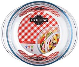 Ôcuisine Classic - Cacerola redonda de vidrio, 1 l, 25,7 x 11,9 x ...