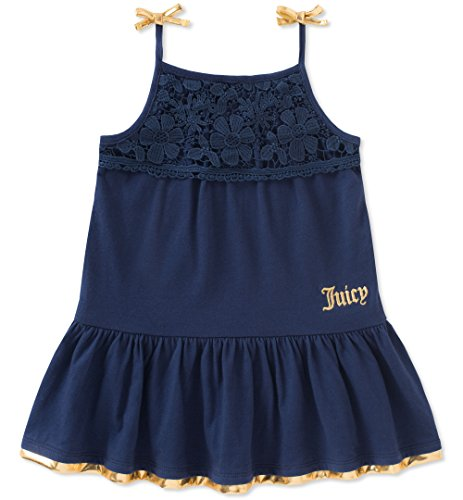 Juicy Couture Girls' Little Casual Dress, Navy, -