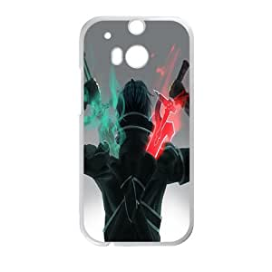 Green and red sword warrior Cell Phone Case for HTC One M8
