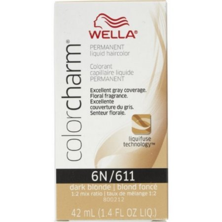 Price comparison product image Wella Color Charm Liquid Haircolor 6n/611 Dark Blonde 1.4 oz (Pack of 4)