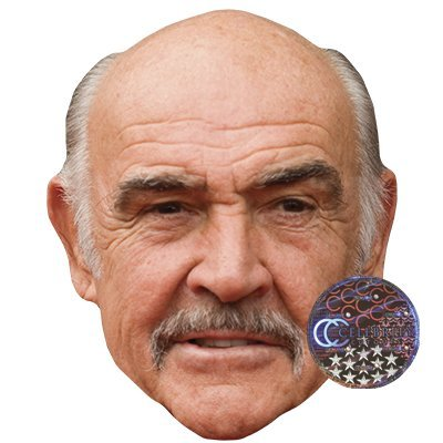 Sean Connery Celebrity Mask, Card Face and Fancy Dress Mask]()