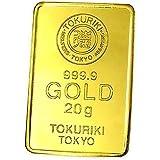 徳力 ゴールドバー 20g インゴット 日本製20gの純金 24金 Gold Bar K24 tokuriki