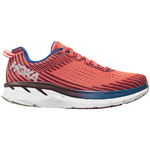 HOKA ONE ONE Womens Clifton 5 Mesh Emberglow Fig Trainers 5.5 US