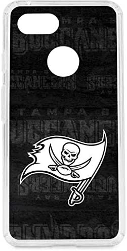 amazon com skinit clear phone case compatible with google pixel 3 officially licensed nfl tampa bay buccaneers black white design case compatible with google pixel 3