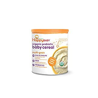 Organic Baby Cereal with Probiotics, Happy Baby, Multi-Grain, 7 oz