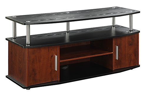 Convenience Concepts Designs2Go Monterey TV Stand, Cherry - Newport Cherry Cabinet Entertainment