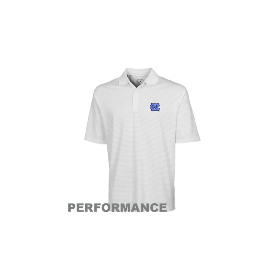 NCAA Antigua North Carolina Tar Heels (UNC) White Phoenix Performance Polo