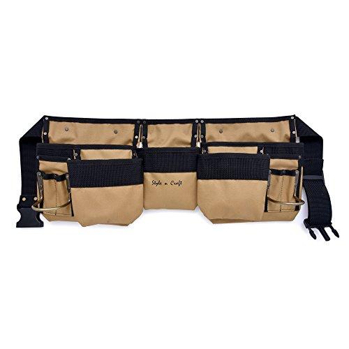 11 Pocket Tool Belt - Style n Craft 76-425 11 Pocket Tool Belt in Polyester