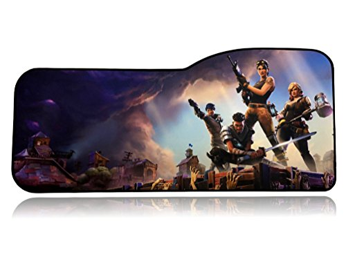"Fortnite Extended Size Custom Professional Gaming Mouse Pad - Anti Slip Rubber Base - Stitched Edges - Large Desk Mat - 28.5"" x 12.75"" x 0.12"" (Fortnite)"