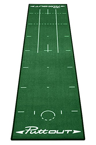 PuttOut Unisex's Pro Golf Putting Mat, Green, 240 x 50 cm