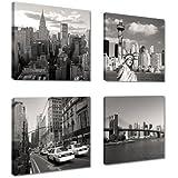 Image sur toile New York 4x20 x 20 cm Modèle N° XXL 6901 art Tableaux pour la mur, encadrés, prêts à poser, tout les images sur châssis géant bois véritable.