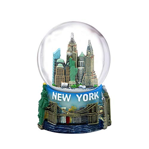 """Mini New York City Snow Globe Featuring The NYC Skyline in This Souvenir Figurine with Statue of Liberty, 2.5"""" Tall (45mm)"""