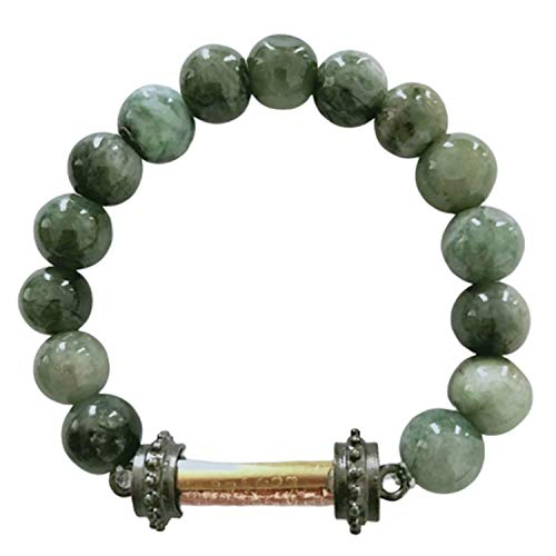 Heavens Tvcz Natural Green Jade Bracelets Rare with Takut 3 Kings 3 Colors Silver Gold NAT Buddha Thailand Bring Prosperity Luck Success in Life Trade Flourishing Prevent Danger Talisman Can Change from Heavens Tvcz