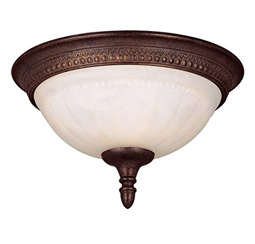 Savoy House KP-6-506-11-40 Flush Mount with Cream Marble Shades, Walnut Patina (Walnut Patina Finish)