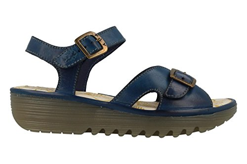 Fly London Womens Egal847fly Wedge Sandal Blå Colmar