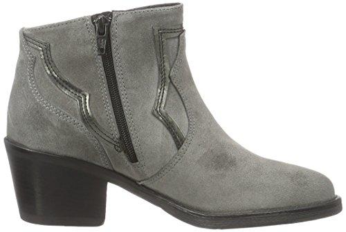 Bronx Women's River Ankle Boots, 3.5 Multicolour (Grey/Gunmetal 1785)