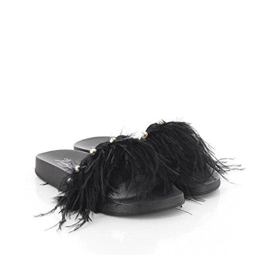 Negro Bout Sandales Femme Klassa BAY KOALA 002 Ouvert Noir fw0qOxA