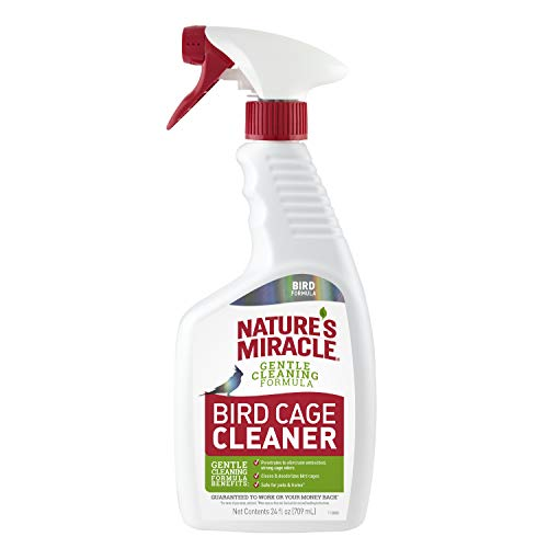 Nature's Miracle Bird Cage Cleaner, 24 fl oz, Cleans & Deodorizes, Removes Tough Caked-On Debris