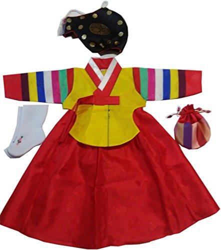 Korean Costume For Girl Kids (Korean Traditional Hanboks Costumes BABY GIRLS KIDS 1st Birthday DOLBOK hg104)