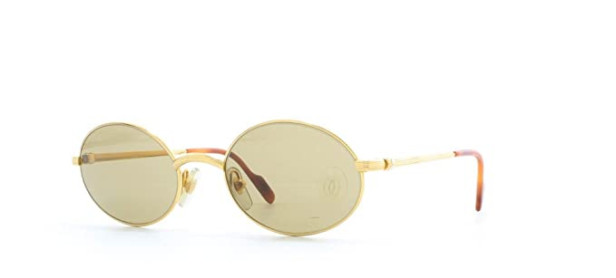 302bcf55b4c3 Cartier Sorbonne T8200.260 GLD Gold Certified Vintage Oval Sunglasses For  Mens and Womens  Amazon.co.uk  Clothing