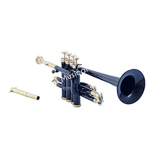 Sai Musical India PiTr-02, Piccolo Trumpet, Bb, Black by Sai Musical India