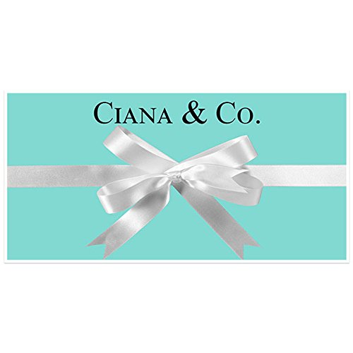 Tiffany Blue with Bow Birthday Banner Personalized Custom Party Backdrop Decoration (Tiffany Und Co Tiffany)