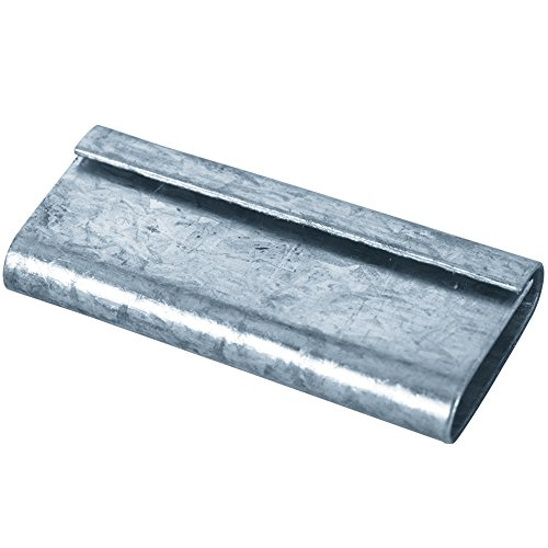 Boxes Fast BFPS1210CLOSED Poly Strapping Seals, Load Capacity, 0.5'' Length, width, Thick, Silver (Pack of 1000) by Boxes Fast