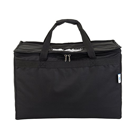 """Commercial Quality Insulated Food Delivery Bag- Large 23"""" x 13"""" x 15'', Thick Thermal Insulation, Extra Strength Zippers, by HicksCoolers (Black) by HicksCoolers (Image #7)"""