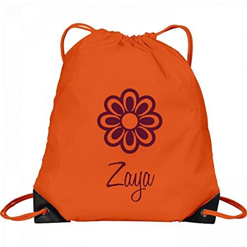 Flower Child Zaya: Port & Company Drawstring Bag by FUNNYSHIRTS.ORG
