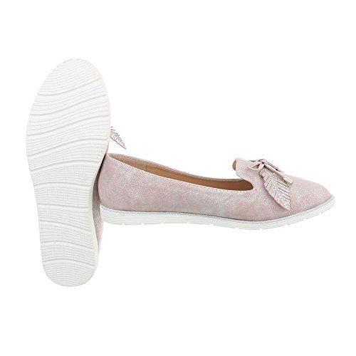 in Pink N von Hausschuhe Damen 58 Silver Ital Design Flache für x6Ywzq00