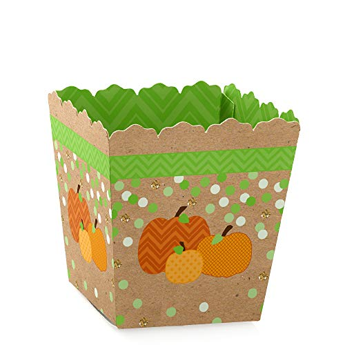Baby's 1st Halloween Pumpkin Carving (Big Dot of Happiness Pumpkin Patch - Party Mini Favor Boxes - Fall or Halloween Party Treat Candy Boxes - Set of)
