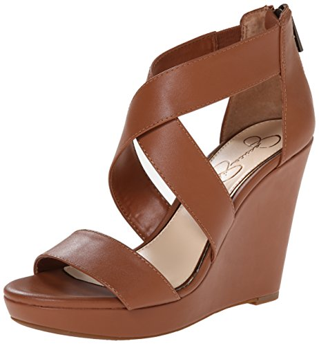 Jessica Simpson Women's Jinxxi Wedge Sandal, Light Luggage, 7.5 M US
