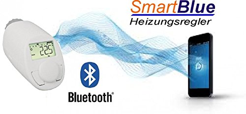 SmartBlue Heizkö perthermostat Bluetooth, Programmierung ü ber Smartphone oder Tablet eQ-3
